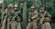 "(L to R) Michael Murphy (TAYLOR KITSCH), Marcus Luttrell (MARK WAHLBERG), Matt ""Axe"" Axelson (BEN FOSTER) and Danny Dietz (EMILE HIRSCH) in ""Lone Survivor"", the incredible story of four Navy SEALs on a covert mission to neutralize a high-level Taliban operative who are ambushed by enemy forces in the mountains of Afghanistan.  The film is based on The New York Times bestselling tale of heroism, courage and survival."
