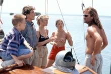CAPTAIN RON, Benjamin Salisbury, Martin Short, Mary Kay Place,   Meadow Sisto, Kurt Russell, 1992. ©Walt Disney Co.