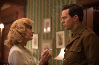 Sarah Paulson as Dorothy Olding and Nicholas Hoult as J.D. Salinger. Photo by Alison Cohen Rosa. Courtesy of IFC Films.